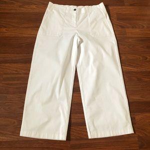 J. Jill White Crop Cropped Capri Pants Size 10 12